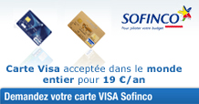 carte sofinco visa