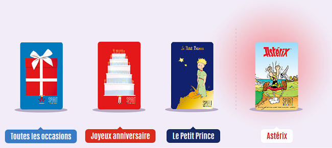 carte spirit of cadeau