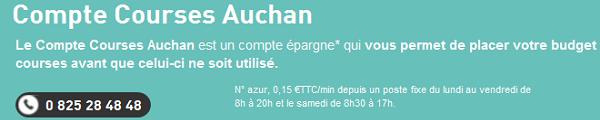 compte courses auchan