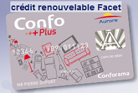 carte facet aurore conforama