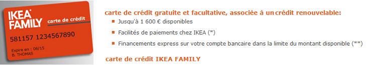 carte de crédit Ikea Family