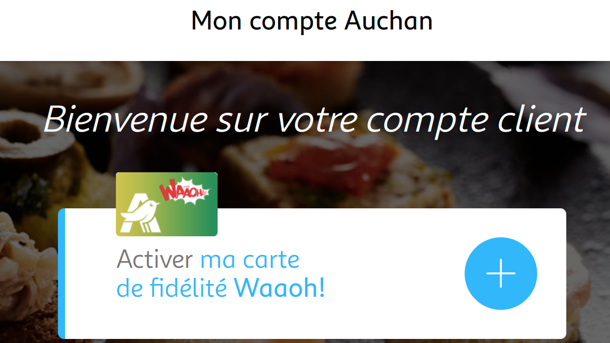 activation carte waaoh auchan