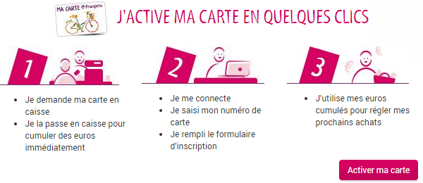activation carte franprix