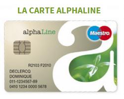 carte Alphaline Cetelem Belgique