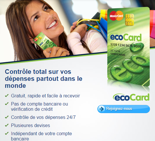 carte prépayée Ecocard