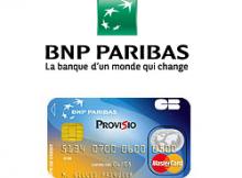 carte provisio BNP