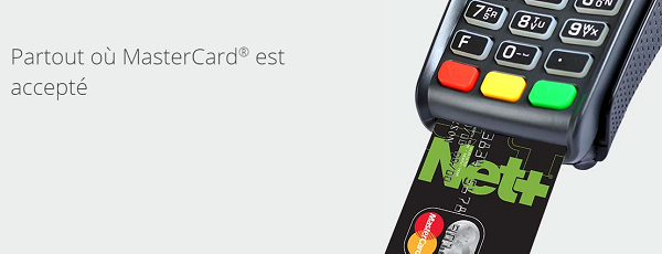 paiement carte net+ prépayée