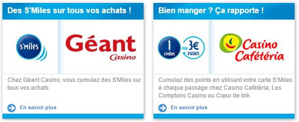 programme fidélité S Miles Casino
