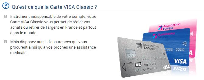 carte Boursorama Banque Visa