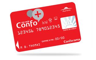 carte Conforama Confo+ Aurore