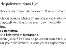 supprimer carte Xbox Live