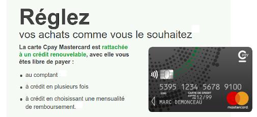 carte cpay mastercard le crédit renouvelable cetem