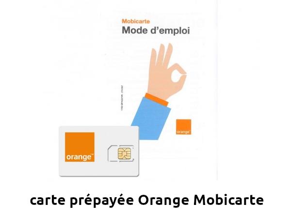 carte prépayée Orange Mobicarte