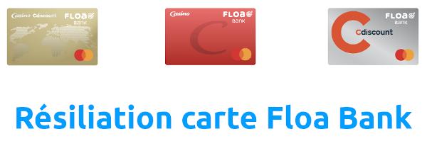 résiliation carte floa bank cdiscount