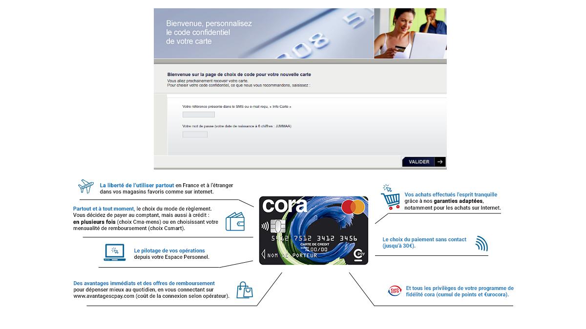 www choisirmoncode fr carte cora mastercard Cpay