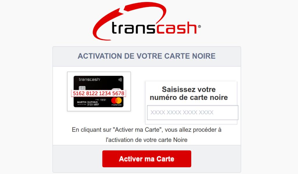 activation carte Transcash