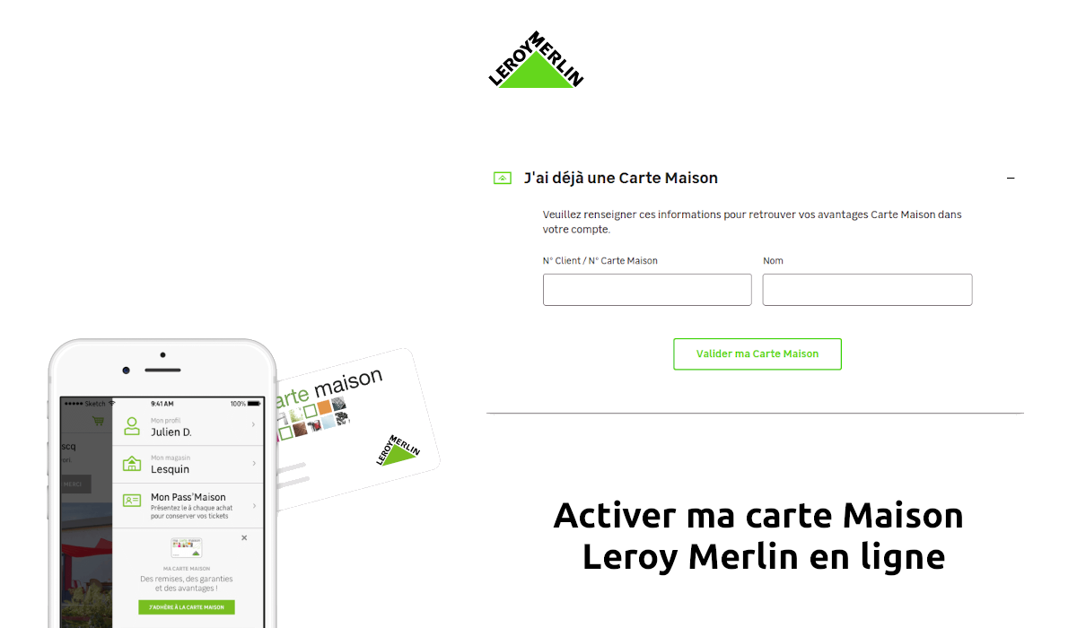 activer ma carte Maison Leroy Merlin
