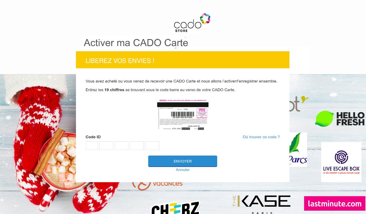 www.cadostore.com Activation carte CADO