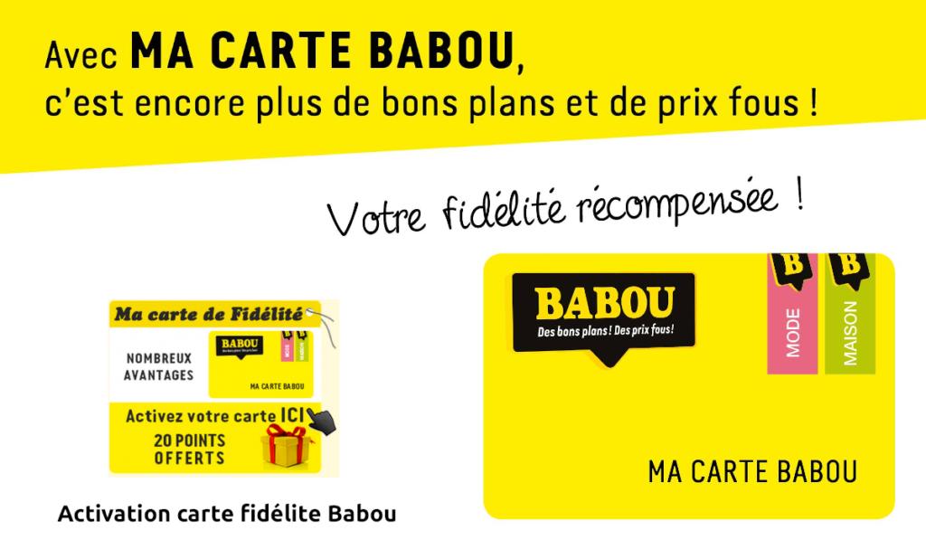Activation carte fidélité Babou