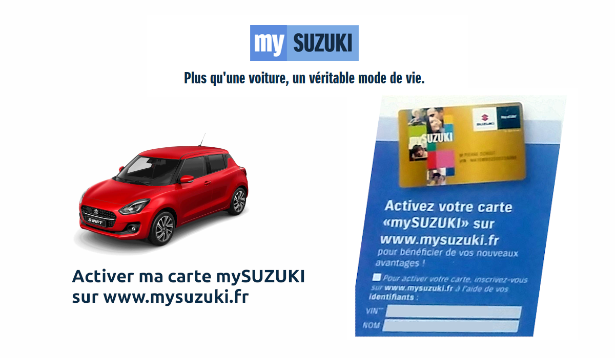 www.mysuzuki.fr activation carte