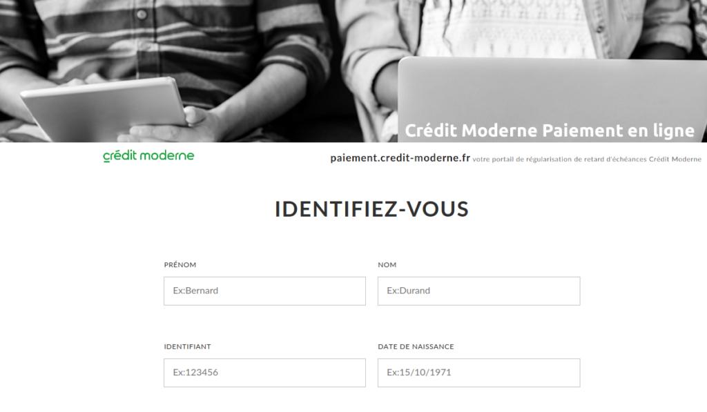 crédit moderne paiement en ligne
