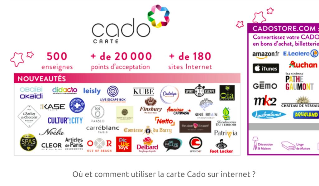 utiliser la carte Cado sur internet ?