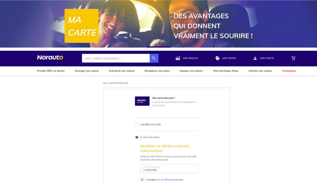 www.norauto.fr activer carte norauto