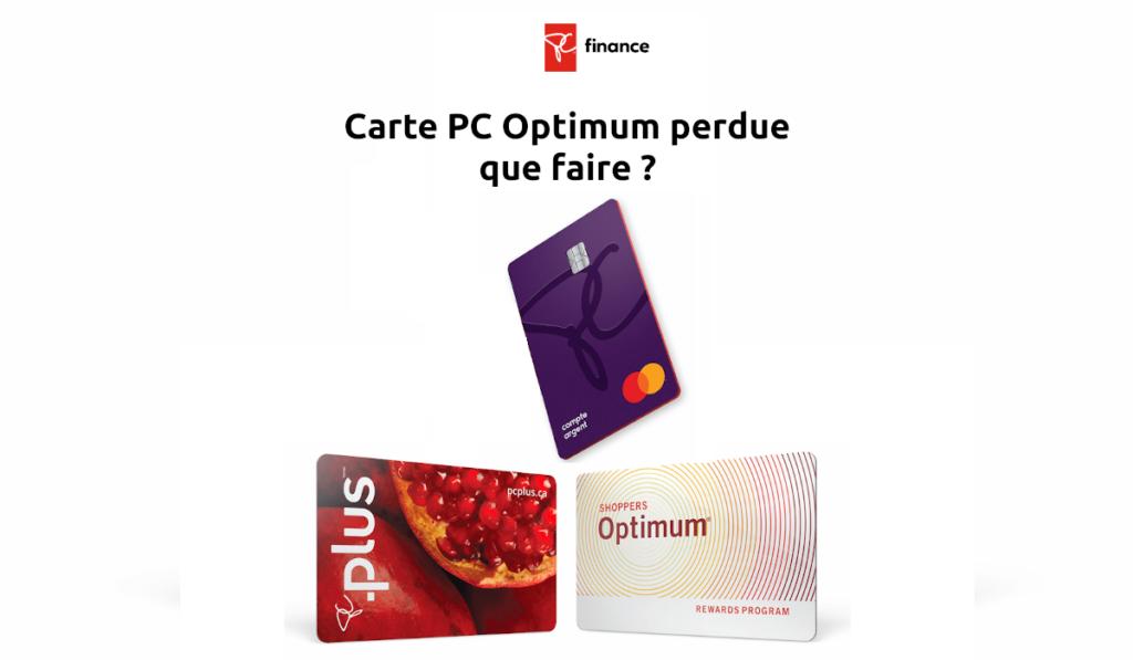 Carte PC Optimum perdue