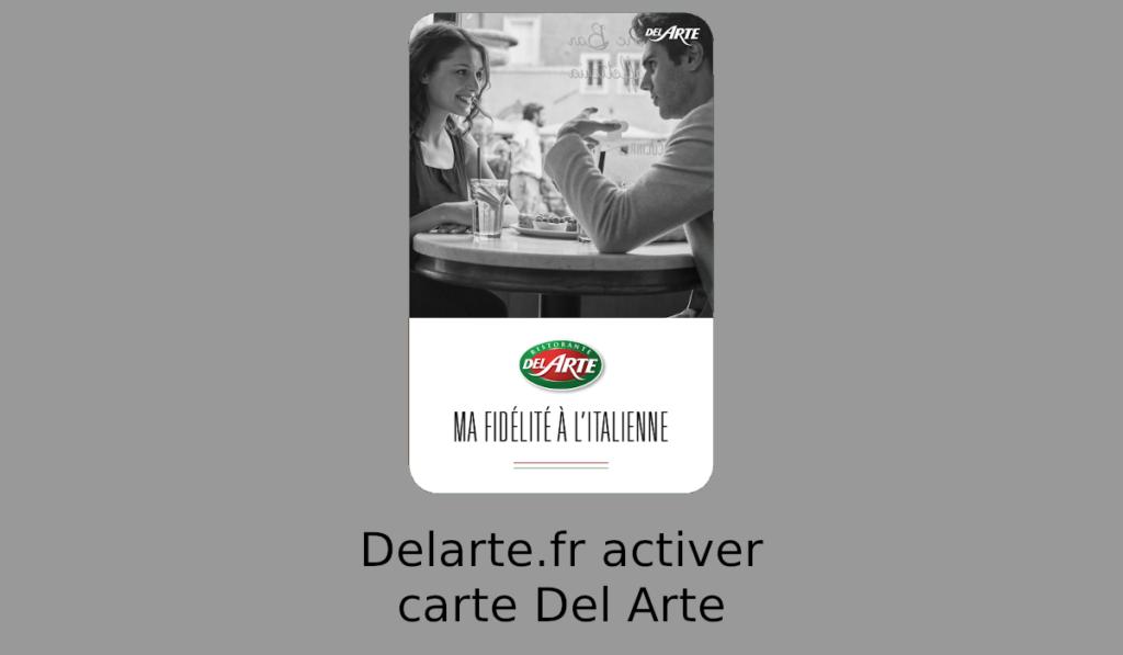 Delarte.fr activer carte Del Arte