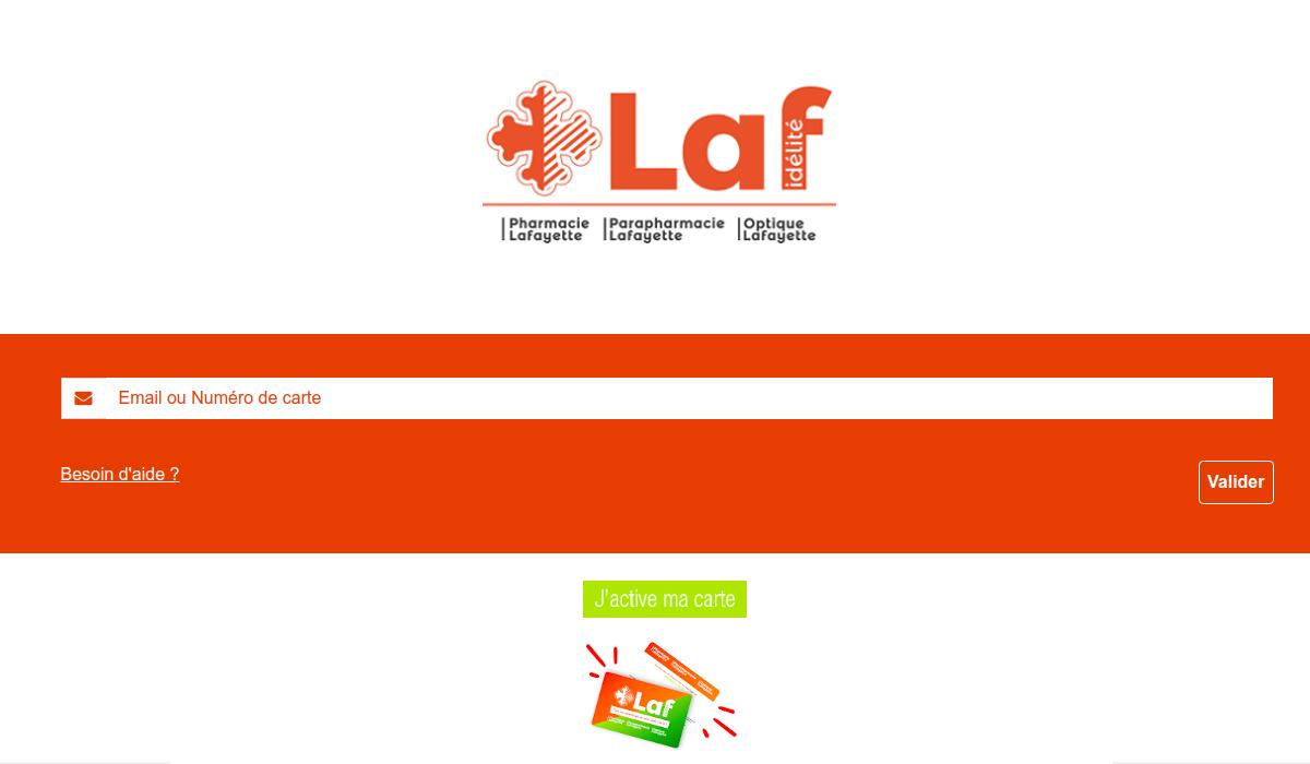 www.lafidelite.com activer carte