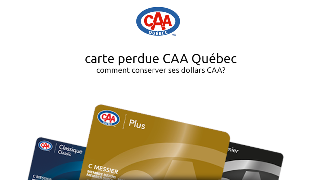 carte perdue CAA Québec