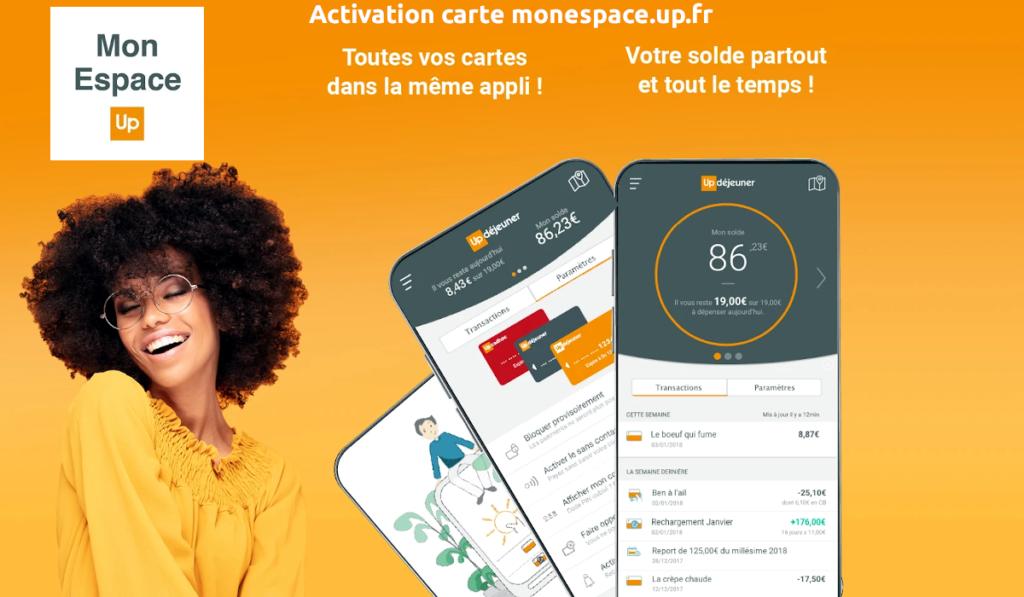 Activation carte monespace.up.fr
